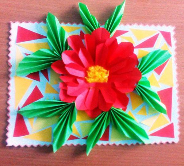 Днем улыбки, объемная открытка на день учителя своими руками с цветами
