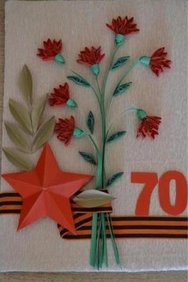Днем рождения, открытка или поделка к 9 мая