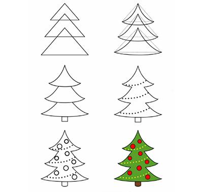 Как нарисовать новогоднюю елку-2018 с игрушками легко и красиво: поэтапные мастер-классы для начинающих и ребенка