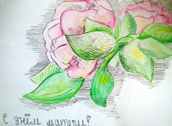 Картинка для мамы просто так нарисовать, 40-летием мужчине открытки