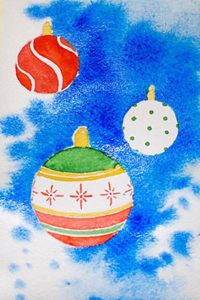 Внимание анимация, открытки на новый год нарисованные красками