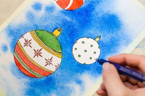 Рисовать новогодние открытки своими руками