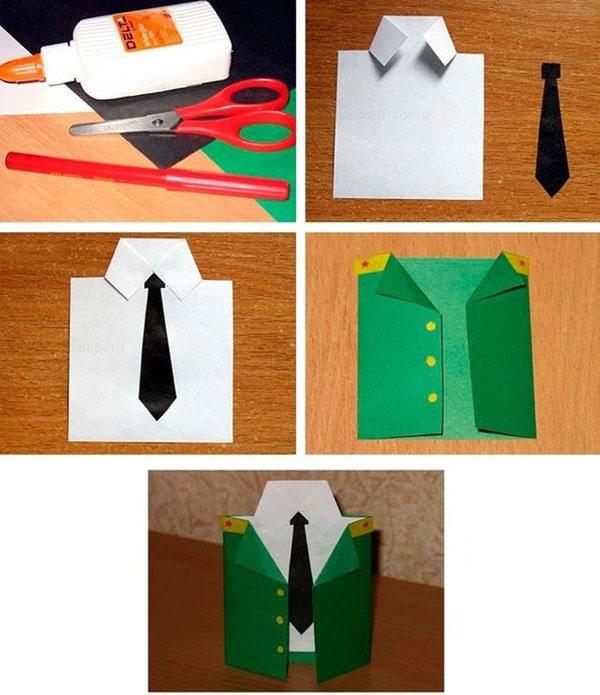 Маугли, подарки для пап в виде открыток