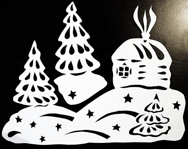 Трафареты и шаблоны на окно для распечатки, вырезания и рисования - на Новый год 2019