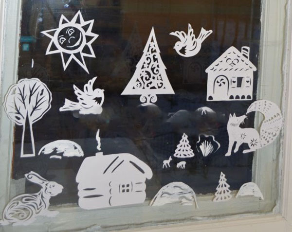 Украшение окон к Новому году 2018 в домашних условиях, детском саду и школе своими руками: шаблоны и трафареты для распечатывания